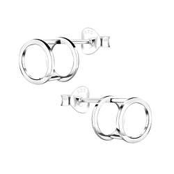 Wholesale Sterling Silver Geometric Ear Studs - JD4913