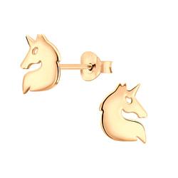 Wholesale Sterling Silver Unicorn Ear Studs - JD6481