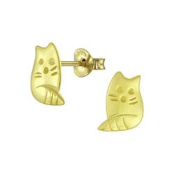 Wholesale Sterling Silver Cat Ear Studs - JD5270
