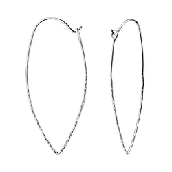 Wholesale Sterling Silver Long Wire Ear Hoops - JD7783