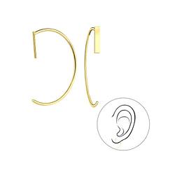 Wholesale Sterling Silver Bar Ear Huggers - JD5330