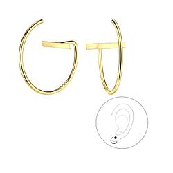 Wholesale Sterling Silver Thread Through Bar Earrings - JD5338