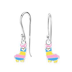 Wholesale Sterling Silver Alpaca Earrings - JD4618