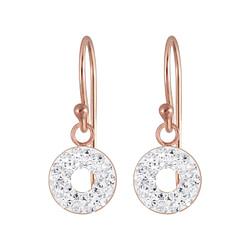 Wholesale Sterling Silver Circles Crystal Earrings - JD5588