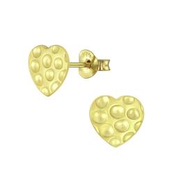 Wholesale Sterling Silver Heart Ear Studs - JD5212