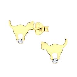 Wholesale Sterling Silver Cat Ear Studs - JD5227