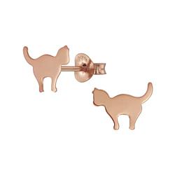 Wholesale Sterling Silver Cat Ear Studs - JD5706