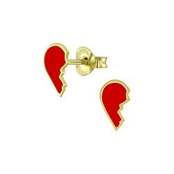 Wholesale Sterling Silver Broken Heart Ear Studs - JD5750