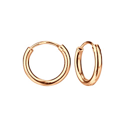 Wholesale 14mm Sterling Silver Thick Ear Hoops - JD4493