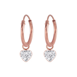 Wholesale Sterling Silver Circle Charm Ear Hoops - JD5542