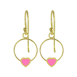 Wholesale Sterling Silver Heart Wire Earrings - JD5838