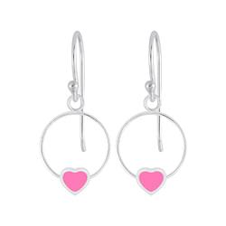 Wholesale Sterling Silver Heart Wire Earrings - JD5839