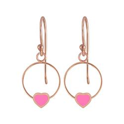 Wholesale Sterling Silver Heart Wire Earrings - JD5837