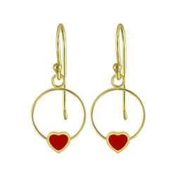 Wholesale Sterling Silver Heart Wire Earrings - JD5835