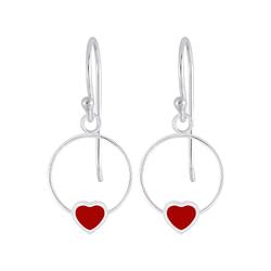 Wholesale Sterling Silver Heart Wire Earrings - JD5836