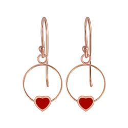 Wholesale Sterling Silver Heart Wire Earrings - JD5834
