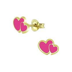 Wholesale Sterling Silver Heart Ear Studs - JD5880