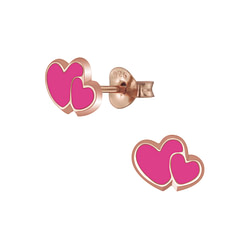Wholesale Sterling Silver Heart Ear Studs - JD5879