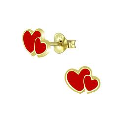 Wholesale Sterling Silver Heart Ear Studs - JD5877