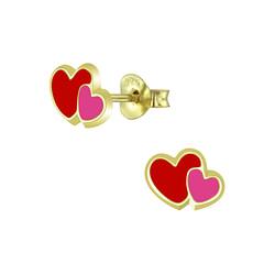 Wholesale Sterling Silver Heart Ear Studs - JD5939