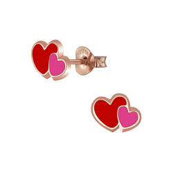 Wholesale Sterling Silver Heart Ear Studs - JD5938