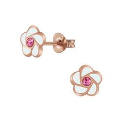 Wholesale Sterling Silver Flower Ear Studs - JD5987