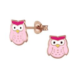 Wholesale Sterling Silver Owl Ear Studs - JD5961