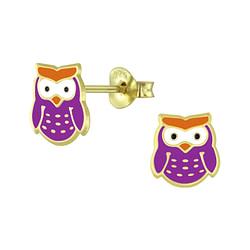 Wholesale Sterling Silver Owl Ear Studs - JD5956