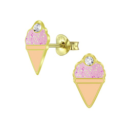 Wholesale Sterling Silver Ice Cream Ear Studs - JD5992
