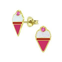Wholesale Sterling Silver Ice Cream Ear Studs - JD5995