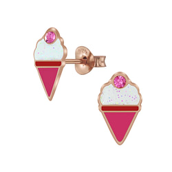 Wholesale Sterling Silver Ice Cream Ear Studs - JD5994