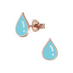Wholesale Sterling Silver Tear Drop Ear Studs - JD5840