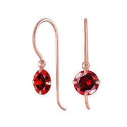 Wholesale 6mm Round Cubic Zirconia Sterling Silver Earrings - JD5388
