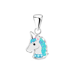 Wholesale Sterling Silver Unicorn Pendant - JD5235