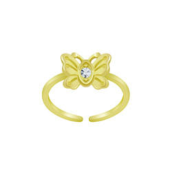 Wholesale Sterling Silver Butterfly Toe Ring - JD6294
