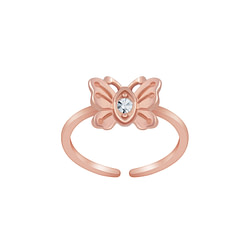 Wholesale Sterling Silver Butterfly Toe Ring - JD6291