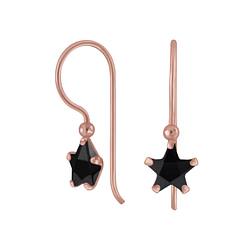 Wholesale 6mm Star Cubic Zirconia Sterling Silver Earrings - JD6509