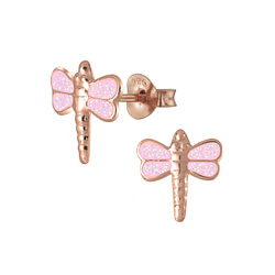 Wholesale Sterling Silver Dragonfly Ear Studs - JD6543