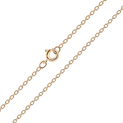 Wholesale 40cm Sterling Silver Cable Chain - JD8353