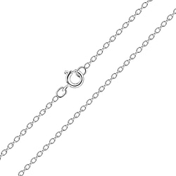 Wholesale 50cm Sterling Silver Cable Chain - JD7443