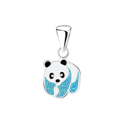 Wholesale Sterling Silver Panda Pendant - JD6357