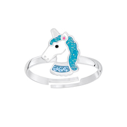 Wholesale Sterling Silver Unicorn Adjustable Ring - JD5236