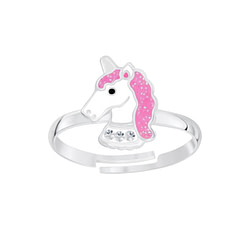 Wholesale Sterling Silver Unicorn Adjustable Ring - JD6568