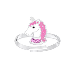 Wholesale Sterling Silver Unicorn Adjustable Ring - JD6588