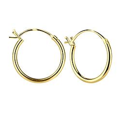 Wholesale 16mm Sterling Silver French Lock Ear Hoops - JD6709