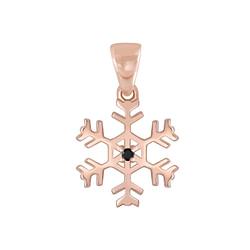 Wholesale Sterling Silver Snowflake Pendant - JD3765