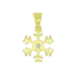 Wholesale Sterling Silver Snowflake Pendant - JD6383
