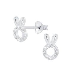 Wholesale Sterling Silver Rabbit Ear Studs - JD6882