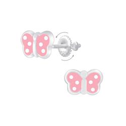 Wholesale Sterling Silver Butterfly Screw Back Ear Studs - JD6861