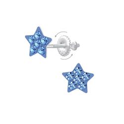 Wholesale Sterling Silver Star Screw Back Ear Studs - JD6806